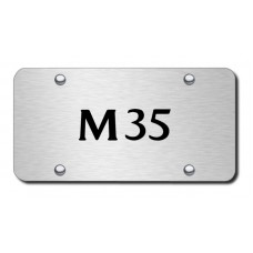 M35 Laser Etched Brushed Stainless Steel License Plate