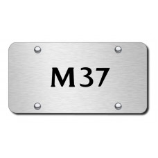 M37 Laser Etched Brushed Stainless Steel License Plate