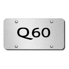 Q60 Name Laser Etched Brushed Stainless Steel License Plate