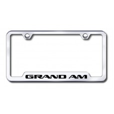 Grand Am Laser Etched Chrome Cut-Out License Plate Frame