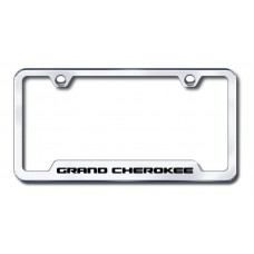 Grand Cherokee Laser Etched Chrome Cut-Out License Plate Frame