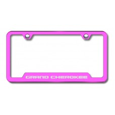 Grand Cherokee Laser Etched Cut-Out Pink License Plate Frame