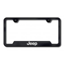 Jeep Laser Etched Cutout Black License Plate Frame