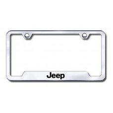 Jeep Laser Etched Chrome Cut-Out License Plate Frame