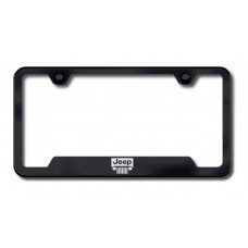 Jeep Grille Laser Etched Cut-Out Black License Plate Frame