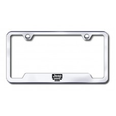 Jeep Grille Laser Etched Chrome Cut-Out License Plate Frame