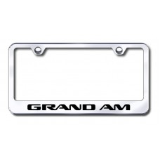 Grand Am Laser Etched Chrome License Plate Frame