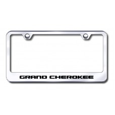 Grand Cherokee Laser Etched Chrome Metal License Plate Frame