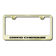 Grand Cherokee Laser Etched Gold Metal License Plate Frame