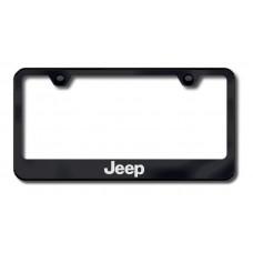 Jeep Laser Etched Black License Plate Frame