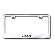 Jeep Laser Etched Chrome Metal License Plate Frame