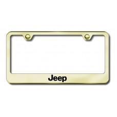 Jeep Laser Etched Gold Metal License Plate Frame