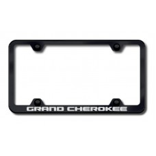Grand Cherokee Wide Body Laser Etched Black License Plate Frame