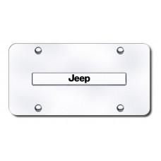Jeep Name Chrome on Chrome License Plate