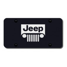 Jeep Grill Laser Etched Black License Plate