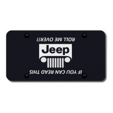Jeep Grill (Roll) Laser Etched Black  LicensePlate