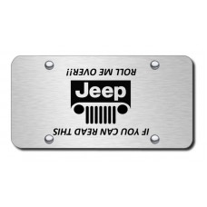 Jeep Grill (Roll) Laser Etched Brushed Stainless License Plate