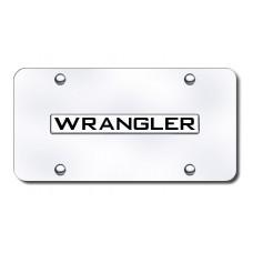 Wrangler Name Chrome on Chrome License Plate