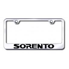 Sorento Laser Etched Chrome License Plate Frame