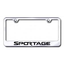 Sportage Laser Etched Chrome Metal License Plate Frame
