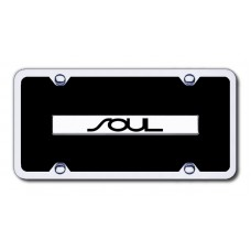 Soul Chrome/Black Acrylic License Plate Kit