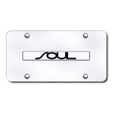 Soul Name Chrome on Chrome License Plate