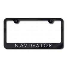 Navigator Laser Etched Black License Plate Frame
