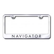 Navigator Laser Etched Chrome Metal License Plate Frame