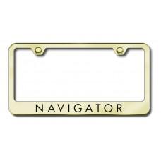 Navigator Laser Etched Gold Metal License Plate Frame