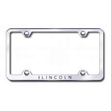Lincoln Wide Body Laser Etched Chrome Metal License Plate Frame