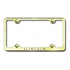 Lincoln Wide Body Laser Etched Gold Metal License Plate Frame