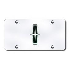 Lincoln Logo (Black) Chrome/Chrome License Plate