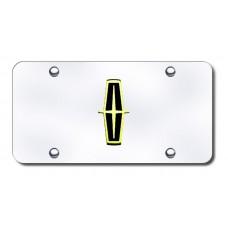 Lincoln Logo (Black) Gold/Chrome License Plate