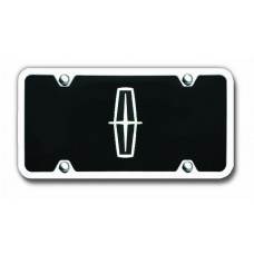 Lincoln Logo Blk CHR/BLK Acrylic License Plate Kit