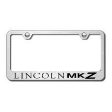 MKZ Laser Etched Brushed Stainless Steel License Plate Frame