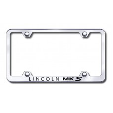 MKS Wide Body Laser Etched Chrome Metal License Plate Frame