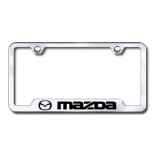 Mazda Laser Etched Chrome Cut-Out License Plate Frame