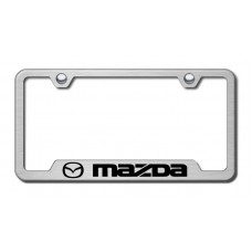 Mazda Laser Etched Brushed Stainless Cut-Out License Plate Frame