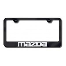 Mazda 3D Chrome on Black License Plate Frame