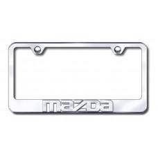 Mazda 3D Name Chrome on Chrome License Plate Frame