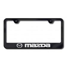 Mazda Laser Etched Black License Plate Frame