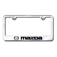 Mazda Laser Etched Chrome Metal License Plate Frame