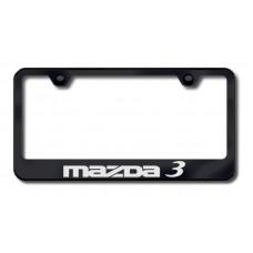 Mazda 3 Laser Etched Black License Plate Frame