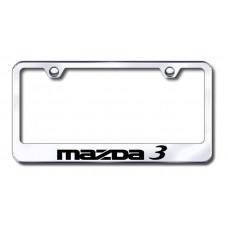 Mazda3 Laser Etched Chrome License Plate Frame