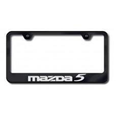 Mazda 5 Laser Etched Black Metal License Plate Frame