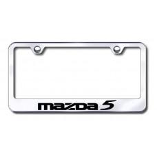 Mazda 5 Laser Etched Chrome Metal License Plate Frame