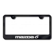 Mazda6 Laser Etched Black License Plate Frame