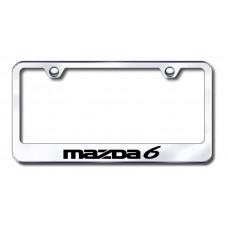 Mazda6 Laser Etched Chrome License Plate Frame