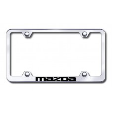 Mazda Wide Body Laser Etched Chrome Metal License Plate Frame