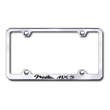 Miata MX5 Wide Body Laser Etched Chrome Metal License Plate Frame